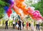 Цветной дым для свадьбы в Подольске